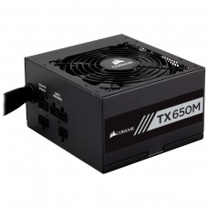 Corsair TX650M 650 Watt 80 Plus Gold Certified Semi-Modular Power Supply