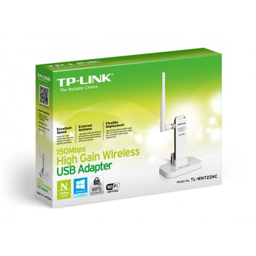 TP-LINK TL-WN722NC 150Mbps High Gain Wireless USB Adapter