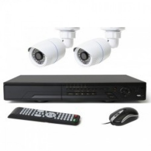 Full HD 1080p 04 Channel Jovision DVR With 02 Units Full HD 1080p Hikvision Camera 02 Units Full HD 1080p Night vision CCTV security Hikvision Camera