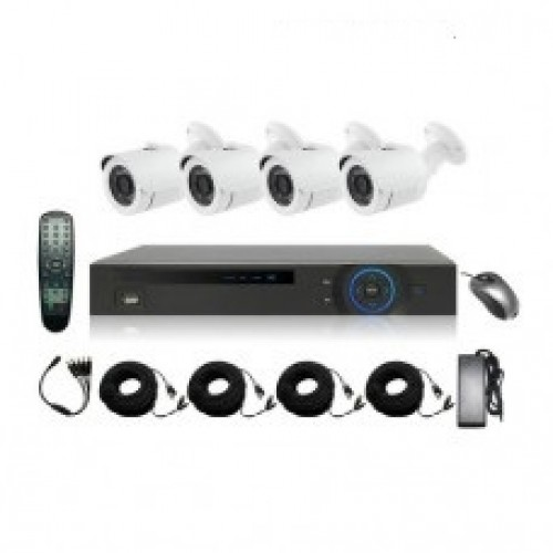 Full HD 1080p 08 Channel Jovision DVR With 04 Units Full HD 1080p Hikvision Camera 04 Units Full HD 1080p Night vision CCTV security Hikvision Camera