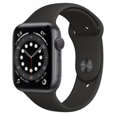 Apple Watch Series 6 (M00H3CH/A) 44mm Sport Band (Black)