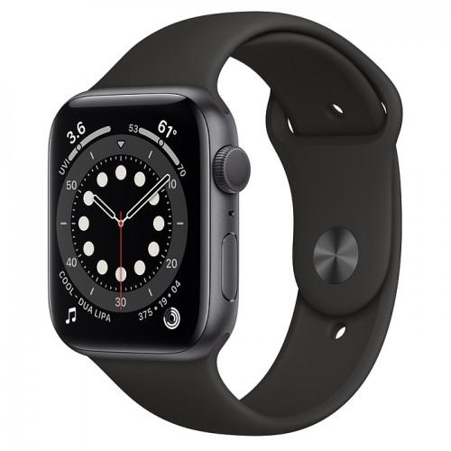 Apple Watch Series 6 (M00H3CH/A) 44mm Sport Band (Black)