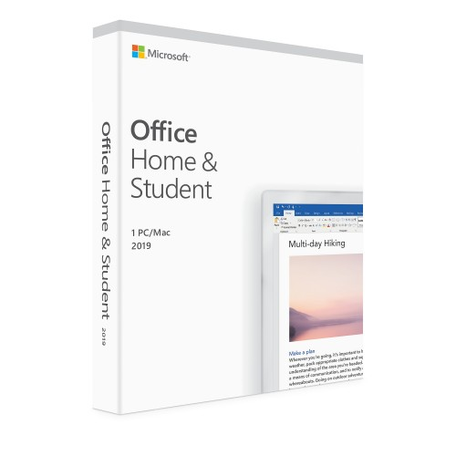 Office Home and Student 2019 English APAC EM Medialess