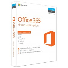 MS Office 365 Home 32-bit/X64 Eng 5 User With 1 Year APAC EM Medialess