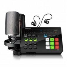 Takstar MX1 Set Live Broadcast Sound Card Set with Earphone & Microphone