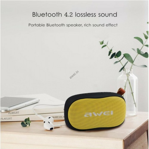 AWEI Y900 Mini Portable Wireless Bluetooth Speaker With Build in Mic