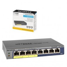 Netgear GS108PE 8-Port ProSafe Gigabit Manage Plus Desktop Switch (4-Port PoE + 4 Port Normal)