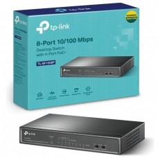 TP Link TL-SF1008P 8 Port 10/100Mbps Desktop Switch with 4-Port PoE