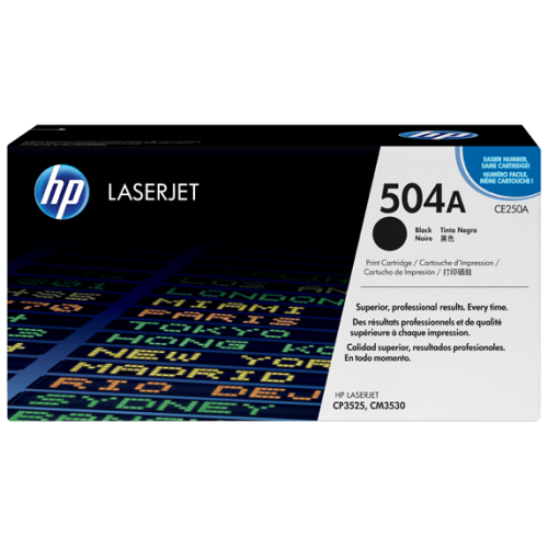 HP 504A Black Original LaserJet Toner