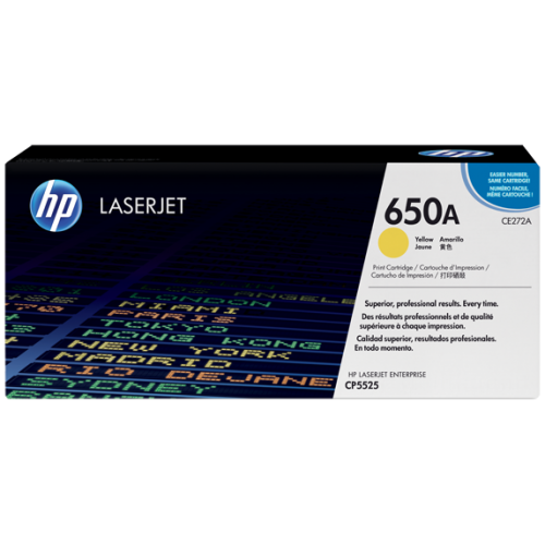 HP 650A Yellow Original LaserJet Toner (For CLJ CP5525N, DN)