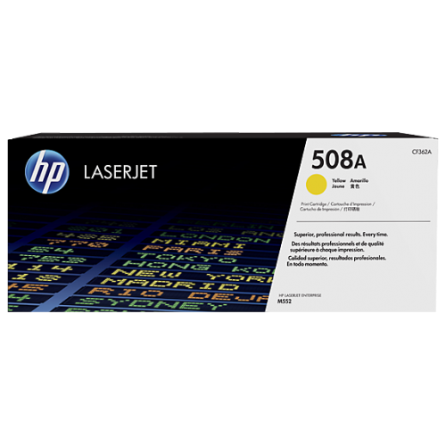 HP 508A Yellow Original LaserJet Toner (For CLJ M553N, DN)