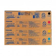 Toshiba T-FC415C-YMCK e-studio Color Original Toner Full Set (4 pcs)