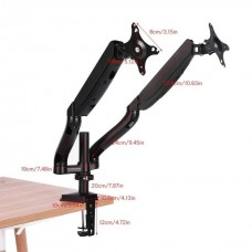 Ergonomic M8 Double Arm Monitor Desk Mount Stand With Cable Management