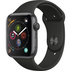 Apple Watch Series 4 (MU6D2LL/A) GPS, 44mm, Space Gray Aluminum, Black Sport Band