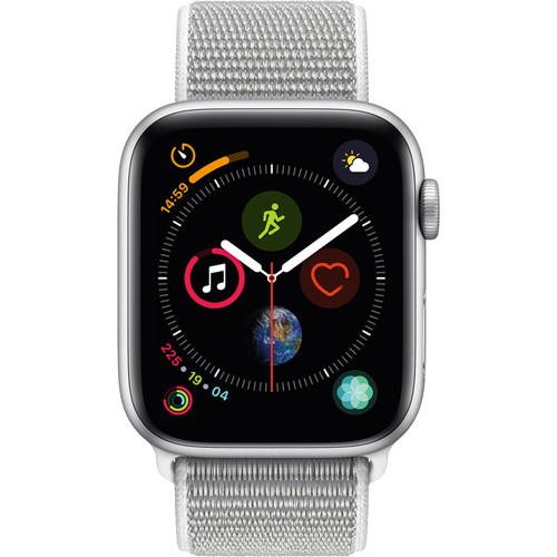 Apple Watch Series 4 (MU6C2LL/A) GPS 44mm Silver Aluminum Seashell Sport Loop