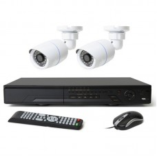 HD-CVI 04 Channel DVR With 02 Units HD-CVI 720p Camera
