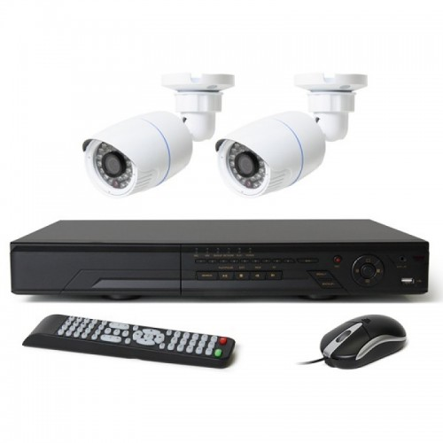 Full HD 720p 04 Channel Jovision DVR With 02 Units Full HD 720p Hikvision Camera