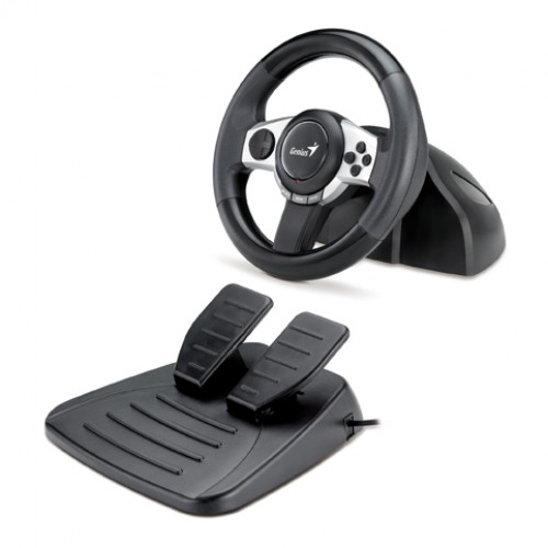 GENIUS Racing Wheel for PC, PS3 and Wii Trio Racer F1
